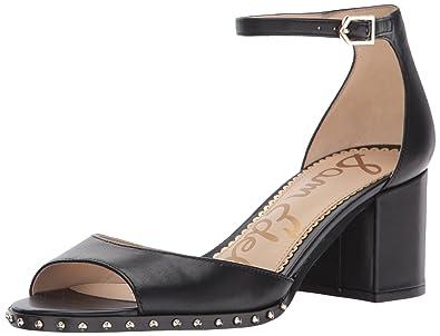 165ac512148 Sam Edelman Women s Susie 3 Heeled Sandal Black Leather 10.5 Medium US
