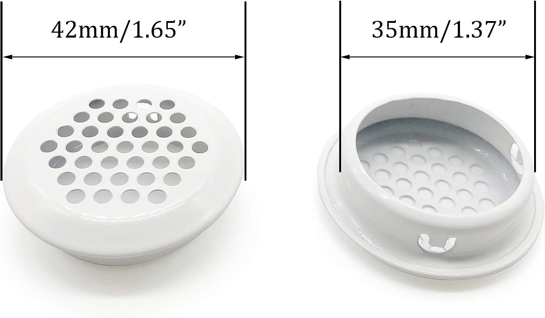 Mesh Hole Air Vents Plastic Soffit Vent White 29mm Hole Dia 3mm Height 50pcs