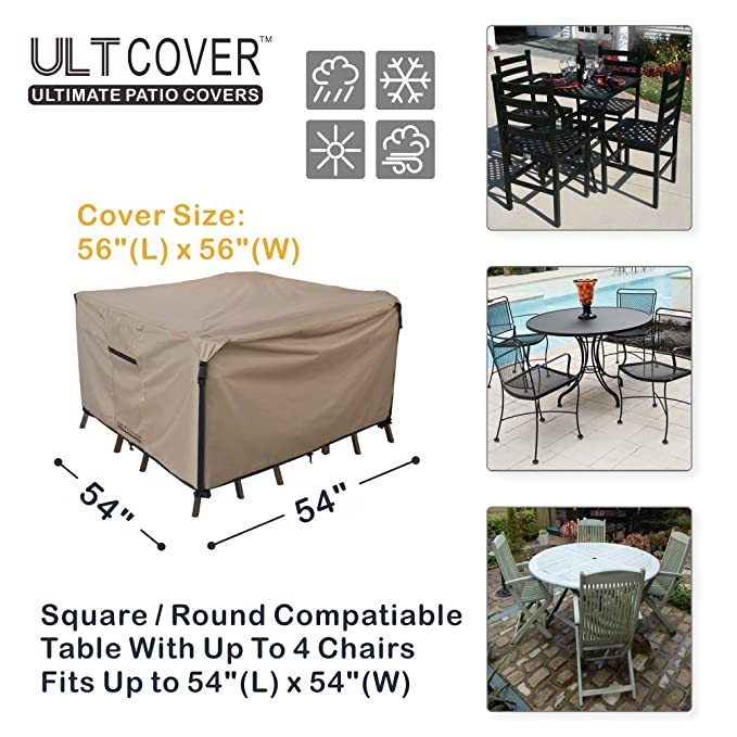 Square Round Patio Heavy Duty Table Cover 600d Tough Canvas 100