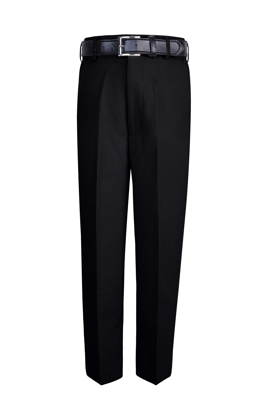 S.H. Churchill & Co. Boy's Comfort Waist Dress Pants and Belt - Black, 16