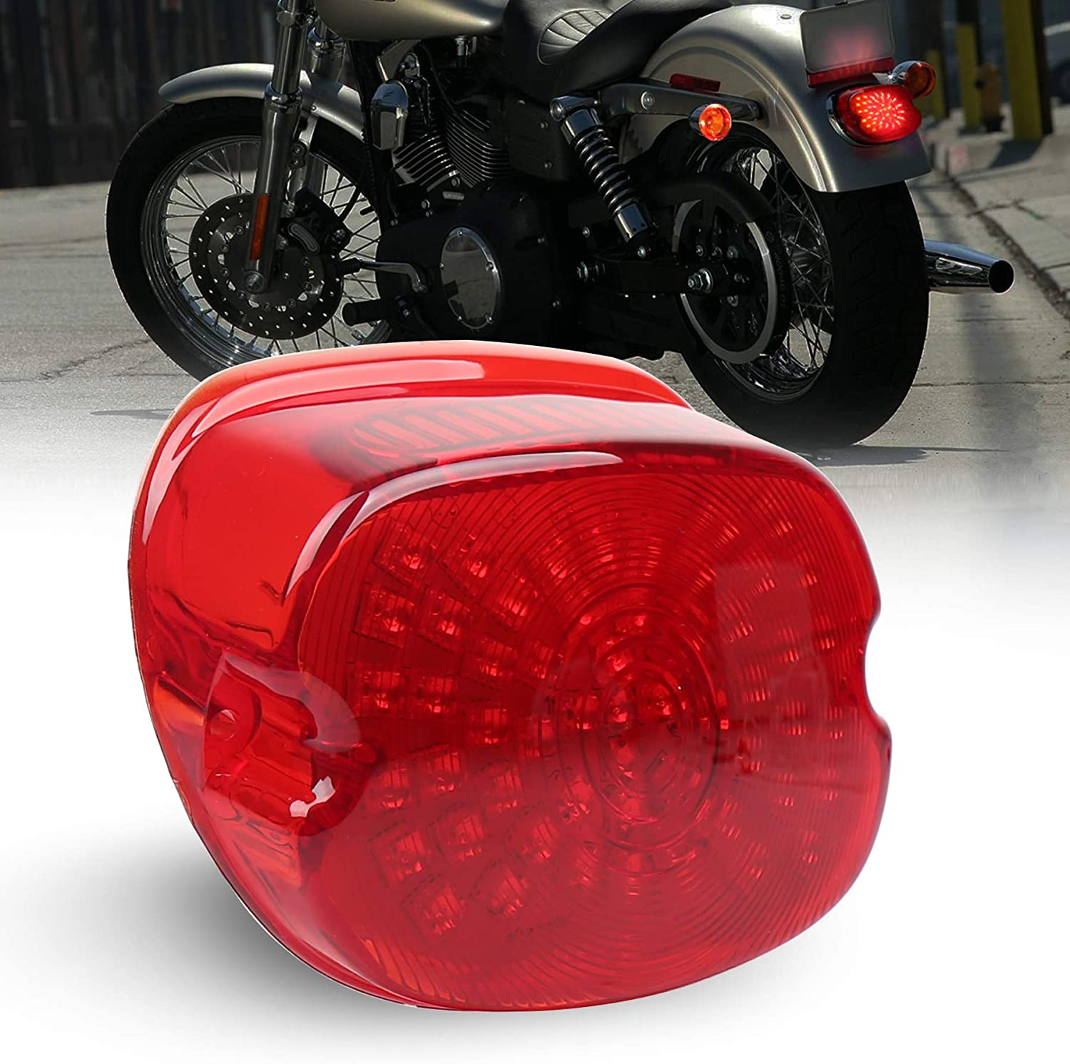LED Brake Turn Signal Tail Light Taillight Stop Lamp For Harley Softail Dyna