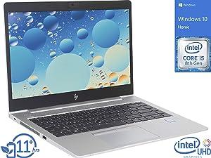"HP EliteBook 840 G6 (7KK13UT) Laptop, 14"" FHD Display, Intel Core i5-8265U Upto 3.9GHz, 8GB RAM, 256GB NVMe SSD, HDMI, Thunderbolt, Wi-Fi, Bluetooth, Windows 10 Pro"