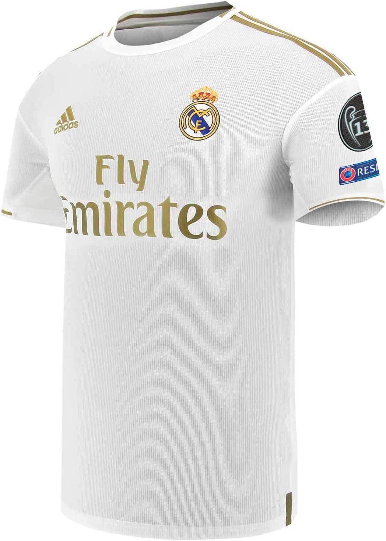 adidas Real Madrid EU Primera Equipación 2019-2020, Camiseta, White, Talla 2XL: Amazon.es: Deportes y aire libre