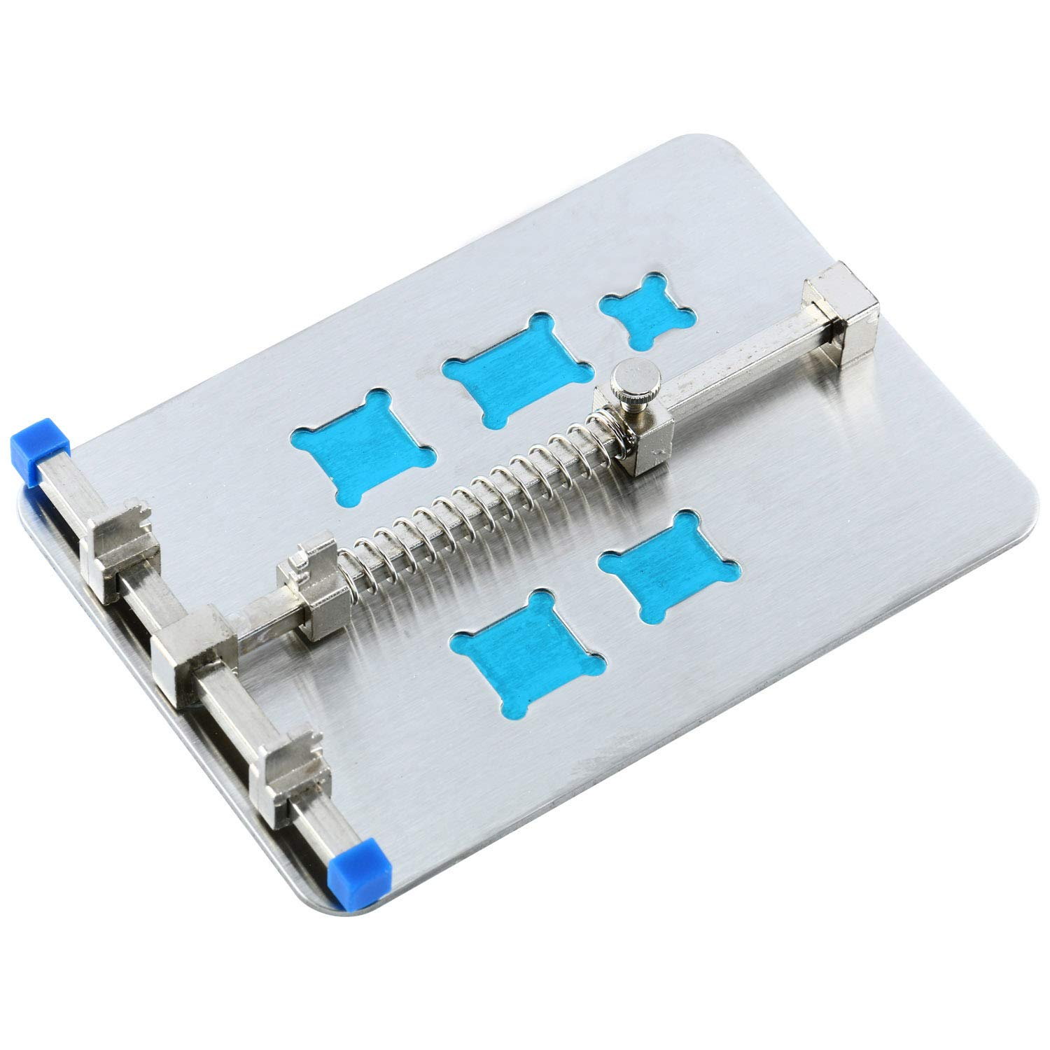 Yaetek Silver Adjustable Mobile Phone Pcb Circuit Board Holder With New Repairing Repair Tool For 5 Kinds Of Ic Grooves And Soldering Tools Home Improvement