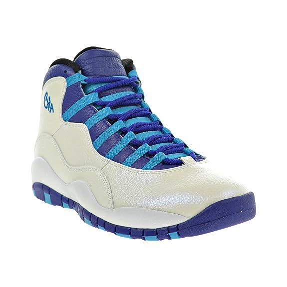 """watch d3a1a f64a1 ... Amazon.com Air Jordan Retro 10  Air Jordan 10 """"Charlotte"""" Color  WhiteConcord-Blue Lagoon-Black ..."""