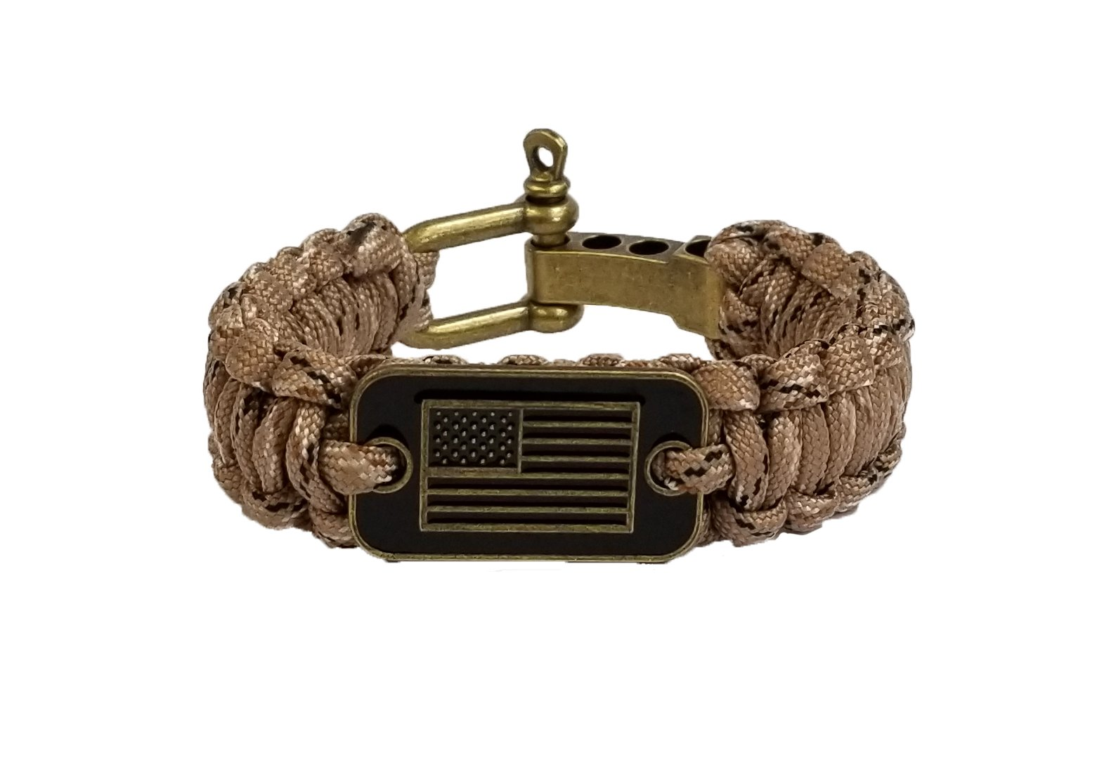 iHeartDogs Desert Camo Paracord Bracelet | 20% of Sales are Donated to Help Pair Veterans with Shelter or Service Dogs