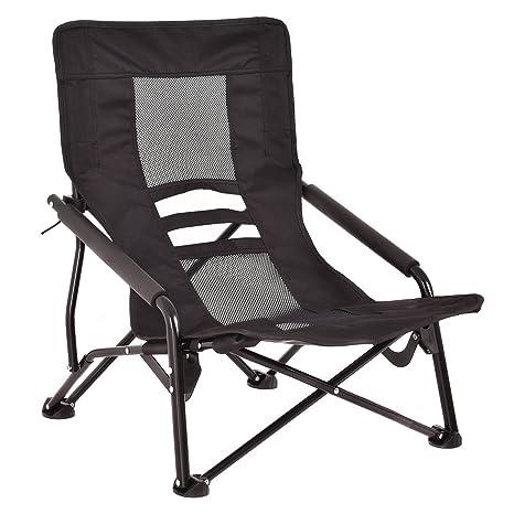 Giantex Outdoor High Back Folding Beach Chair Lightweight Camping Furniture  Portable Mesh Seat (Black) - Amazon.com : Giantex Outdoor High Back Folding Beach Chair