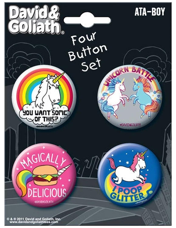 amazon com ata boy david and goliath unicorns set of 4 1 25