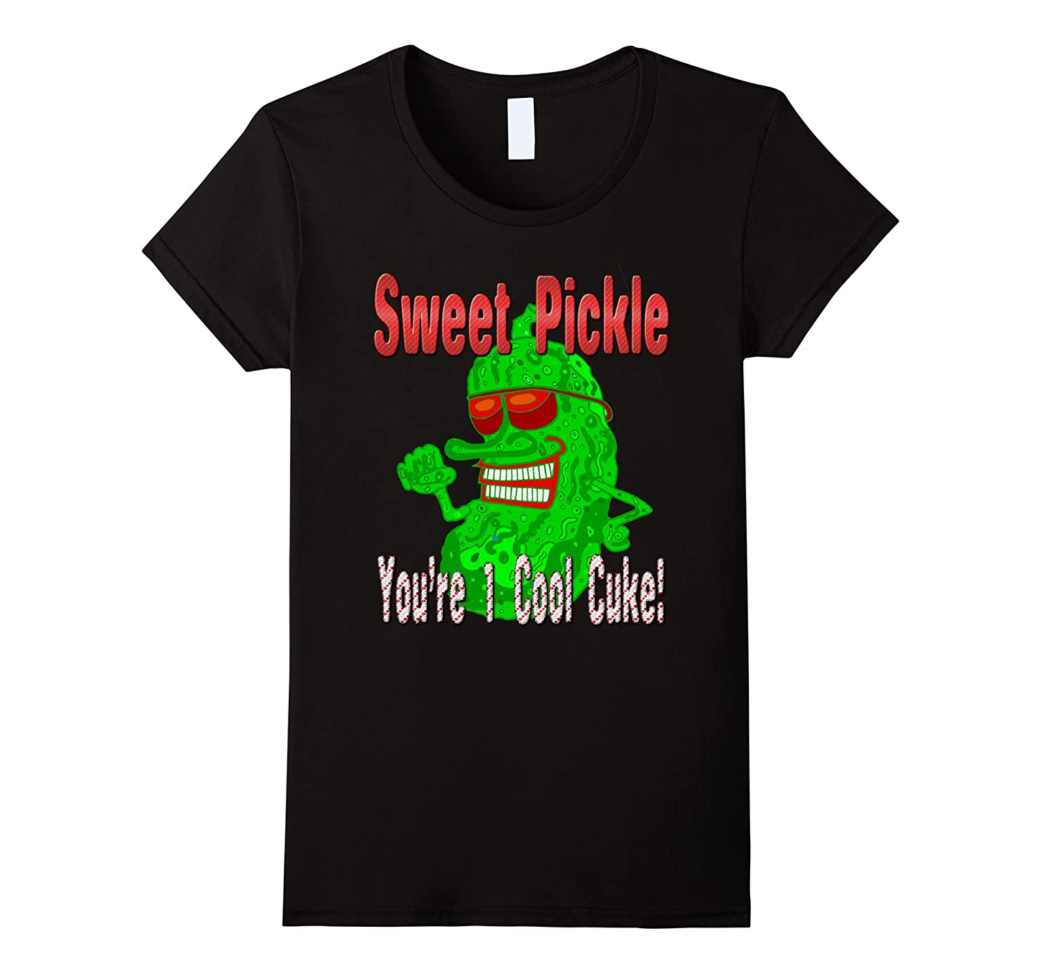 FUNNY BIG DILL PICKLE VALENTINE PARTY 'COOL CUKE' T-SHIRT