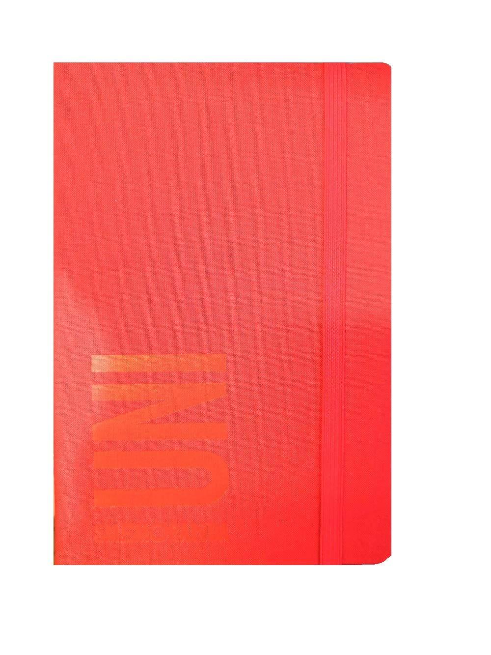 Diario Agenda Smemoranda Universitaria 2019//2020 Giornaliera 13 Mesi Rossa 19x12,5 cm Penna Colorata Omaggio GUT