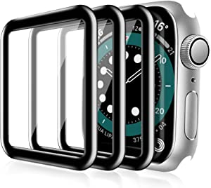 [3 PACK] Witzon Screen Protector Compatible with Apple Watch 38mm Series 3/2/1, 3D Curved Full Coverage Black Edge Anti-scratch Anti-Bubble HD Clear Flexible Protective Film for iWatch Series 1/2/3