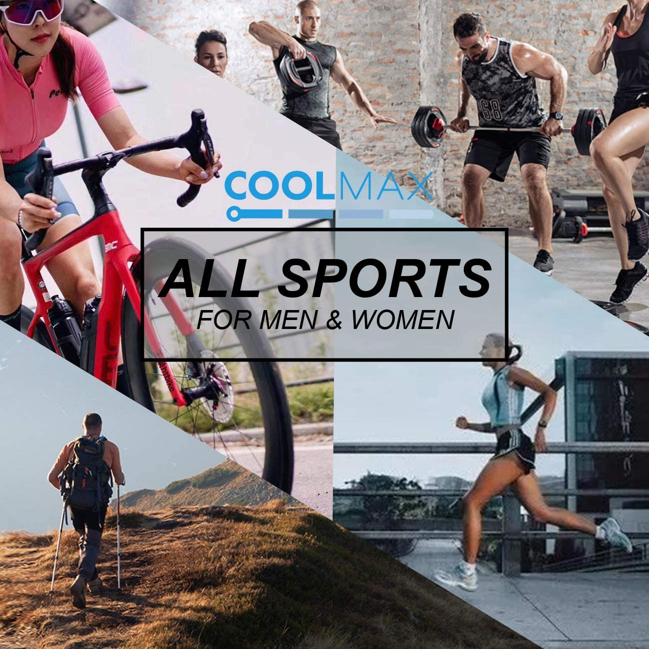 5 pairs Crew Socks COOLMAX Brand Performance Mild Compression Support 15-18mmHg for Men /& Women Socks