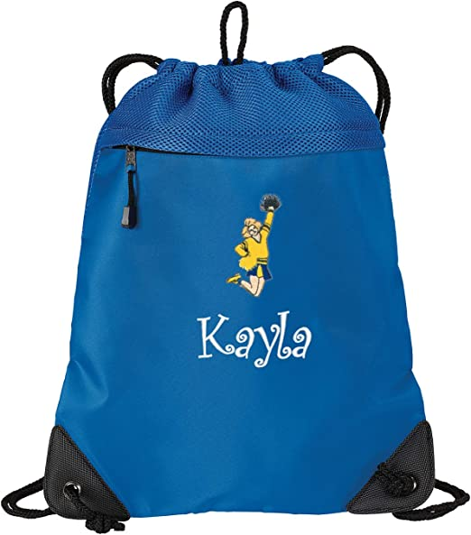 Monogrammed Custom Name Kids Band Gift Personalized Kids Cinch Pack Embroidered Tuba Design Drawstring Gym School PE Pool Backpack