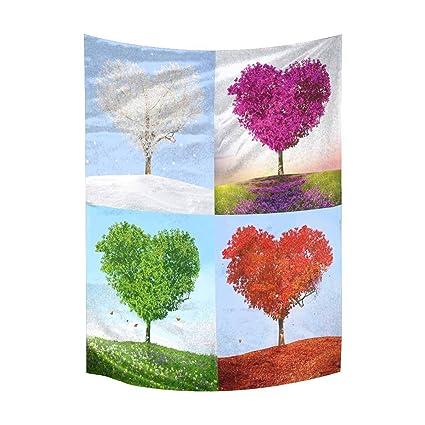 6eb7e6261fba Amazon.com: INTERESTPRINT Valentine Love Heart Tree of Love for Four ...