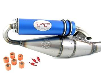 Tuning Sport Auspuff Peugeo-t Speedfight 3 50 Leovince TT rot Auspuff Peugeo-t Speedfight 4 50ccm 2-Takt