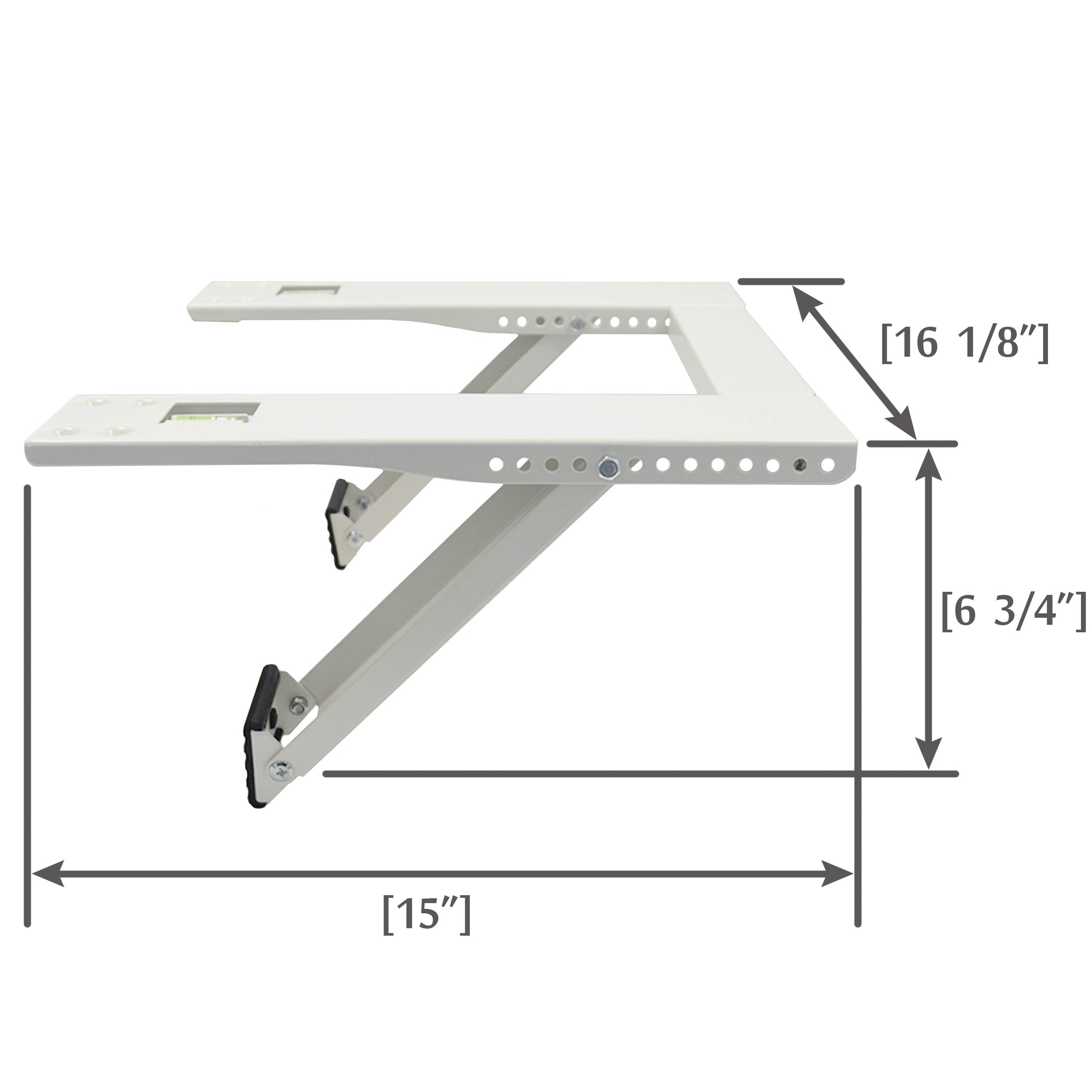 Qualward Air Conditioner Bracket Window AC Support Brackets - Heavy Duty with Two 15 inches Arms, Up to 105 lbs for 5000 to 12000 BTU Small A/C Units by Qualward (Image #4)