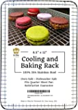 """Ultra Cuisine 100% Stainless Steel Wire Cooling Rack fits Quarter Sheet Size Baking Pan, Heavy Duty, Commercial Quality, Oven Safe for Roasting Cooking Grilling (8.5"""" x 12"""")"""