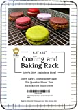 """Ultra Cuisine 100% Stainless Steel Wire Cooling Rack fits Quarter Sheet Size Baking Pan, Oven Safe Heavy Duty Commercial Quality for Roasting Cooking Grilling (8.5"""" x 12"""")"""