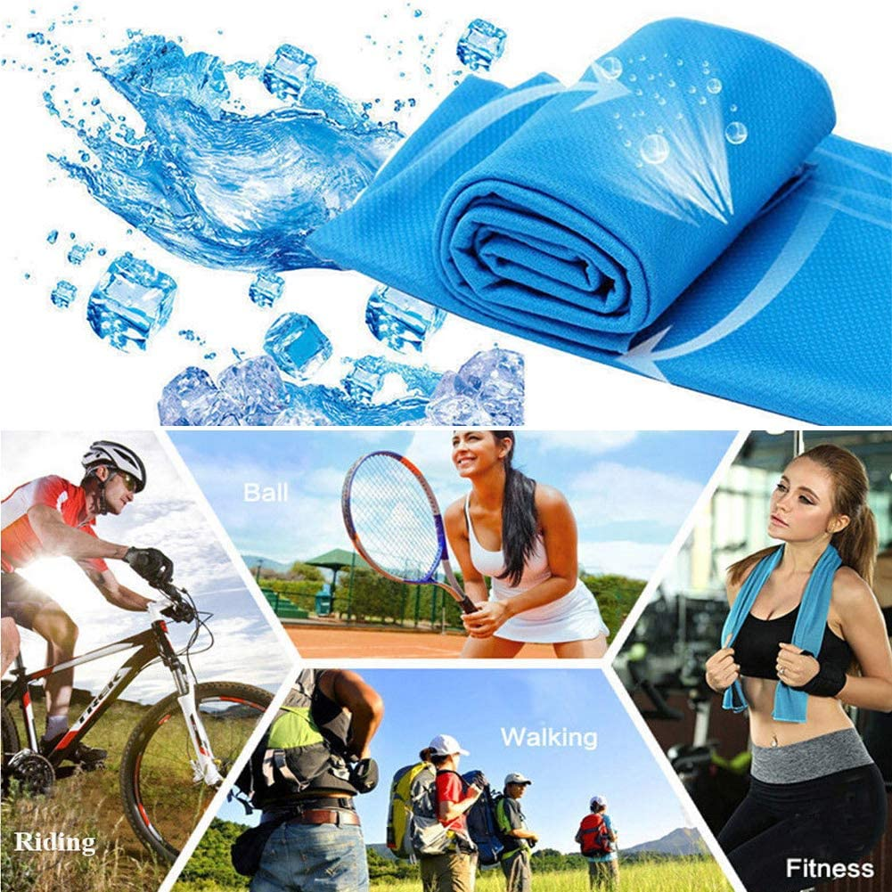 Ice Cold Enduring Running Gym Yoga Hiking Cycling Cooling Towel Sport Essentials