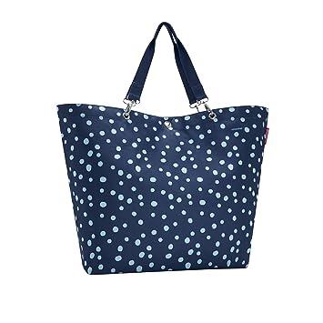 Reisenthel - Shopper, Einkaufstasche, Tasche - Blau mit weißen Pünktchen -  67 x 44