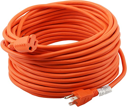 3 Outlet Grounded Triple Tap 9/' Orange Extension Electric Power Cord 16 //3 Gauge