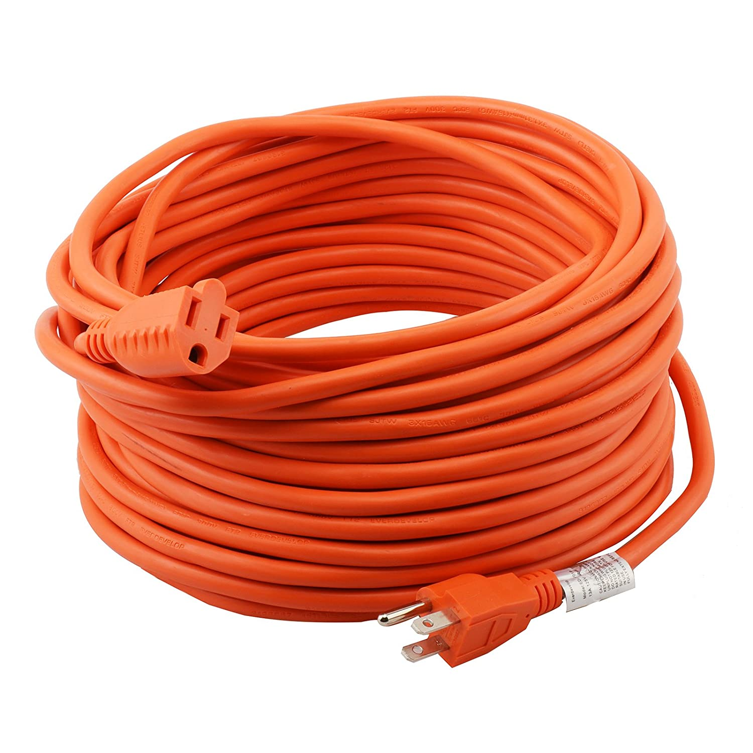 Epicord 16 3 Extension Cord Outdoor Extension Cord 50 Ft Orange Heavy Duty Extension Cord Amazon Com