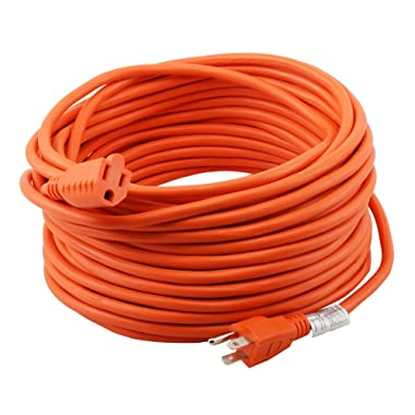 Epicord 16/3 Extension Cord Outdoor Extension Cord (50 ft) Orange heavy duty extension cord
