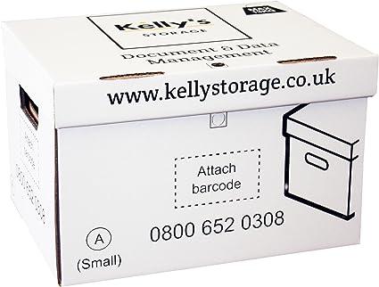 Kelly de almacenamiento multiusos archivo caja de cartón para guardar/organizar documentos/A4 Archivos en el hogar, oficina o almacén (10 unidades): Amazon.es: Oficina y papelería