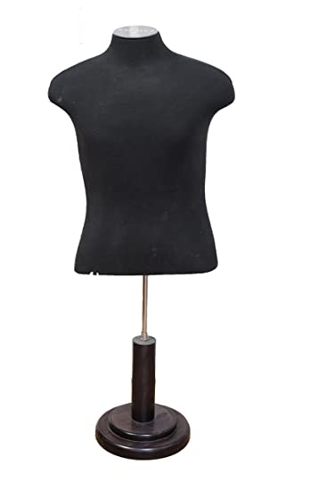 Amazon.com: Male Mannequin Dress Form In Black With Adjustable Stand: Beauty