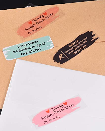 1000 Amerixun Custom Address Label,Return Address Label Sticker,Personalized Wedding,Mail,Address Label