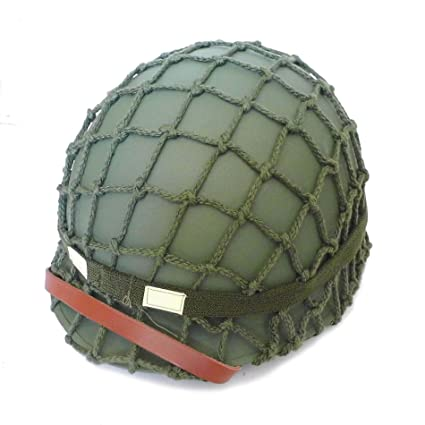 Amazon com : HOME DAILY SALE WW2 World War 2 U S  Army M1 Helmet