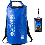 Ultralight Waterproof Dry Bag with Straps and Heavy Duty Handle - 4 Colours - 10ltr Small and 20l Large Rucksack Duffel Bags with Waterproof Universal Phone Case - Travelling Duffle Backpack
