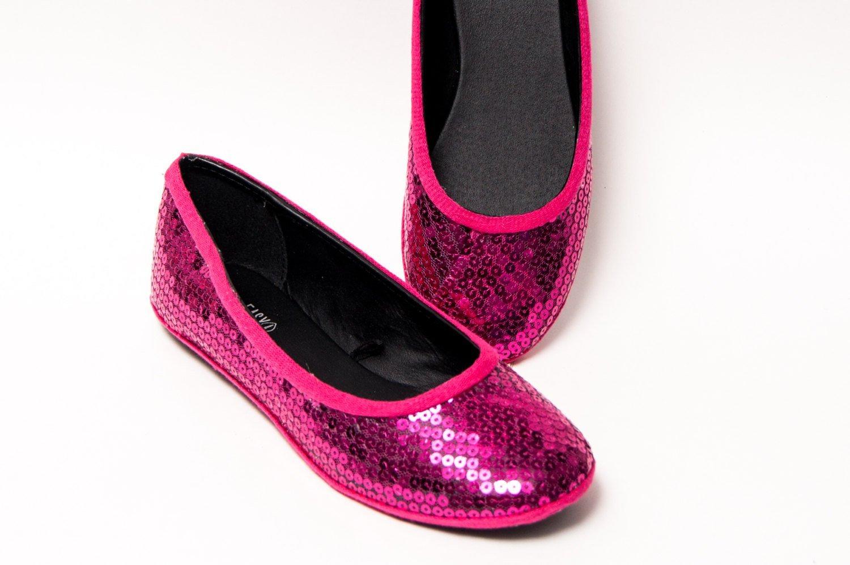Women's Hot Fuchsia Pink Ballet Flats