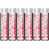 VOSS Strawberry Ginger Flavored Sparkling Water, 12.7oz Glass Bottle (Pack of 6, Total of 76.2 Fl Oz)