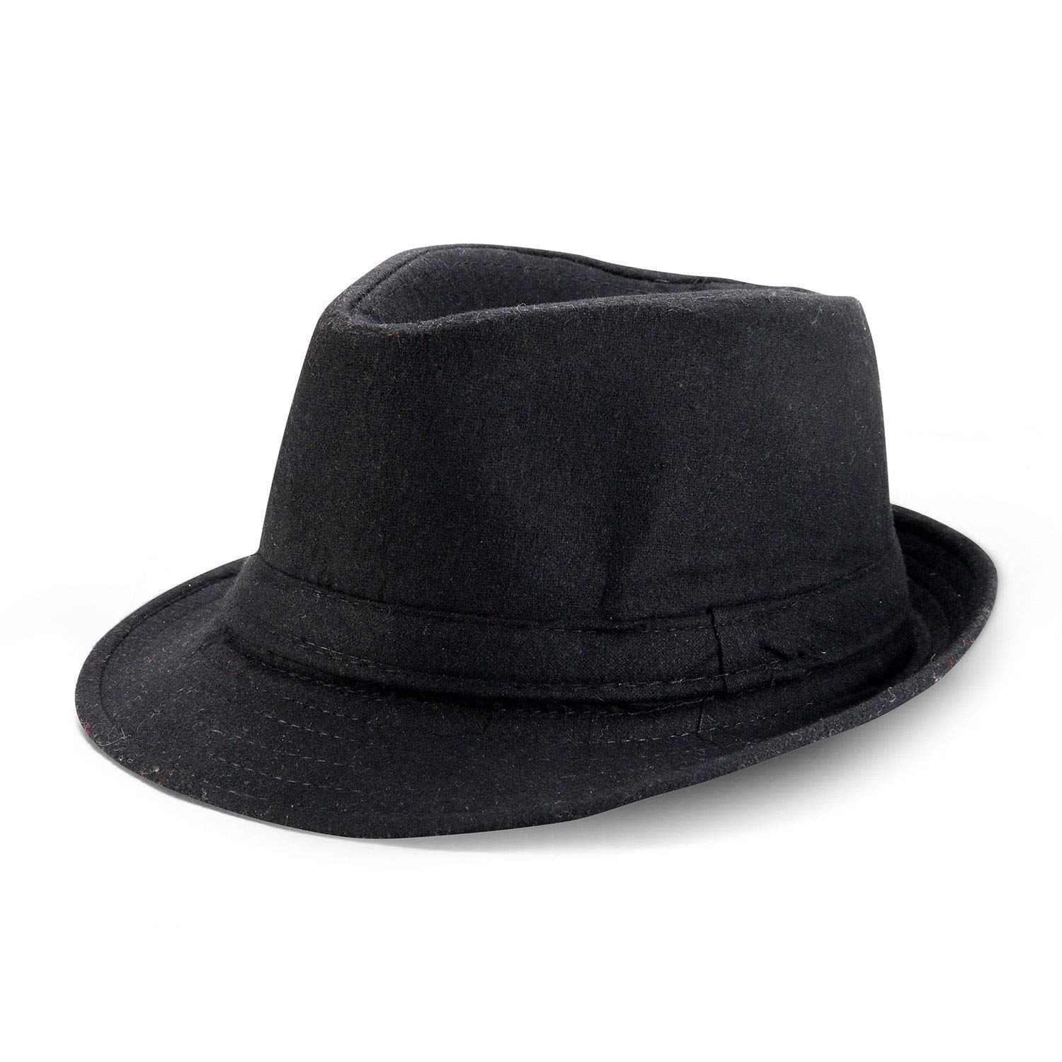 Ezpand Mens Short Brim Structured Straw Fedora Costume Trilby Hiking Camping Hat