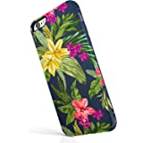 iPhone 6/6s case floral, Akna New Glamour Series [All New Design] Flexible Soft TPU cover with Fabulous Glossy Pattern for both iPhone 6 & iPhone 6s(4.7¡±iPhone) [Vacation in Hawaii](219-C.A)