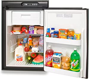 Norcold N412UR RV Refrigerator - 4.5 cu. ft. - AC/LP - Right Hand Swing - Black Trim