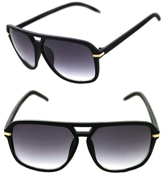 Amazon.com: Hombre Hip Hop 80 S Vintage anteojos de sol ...