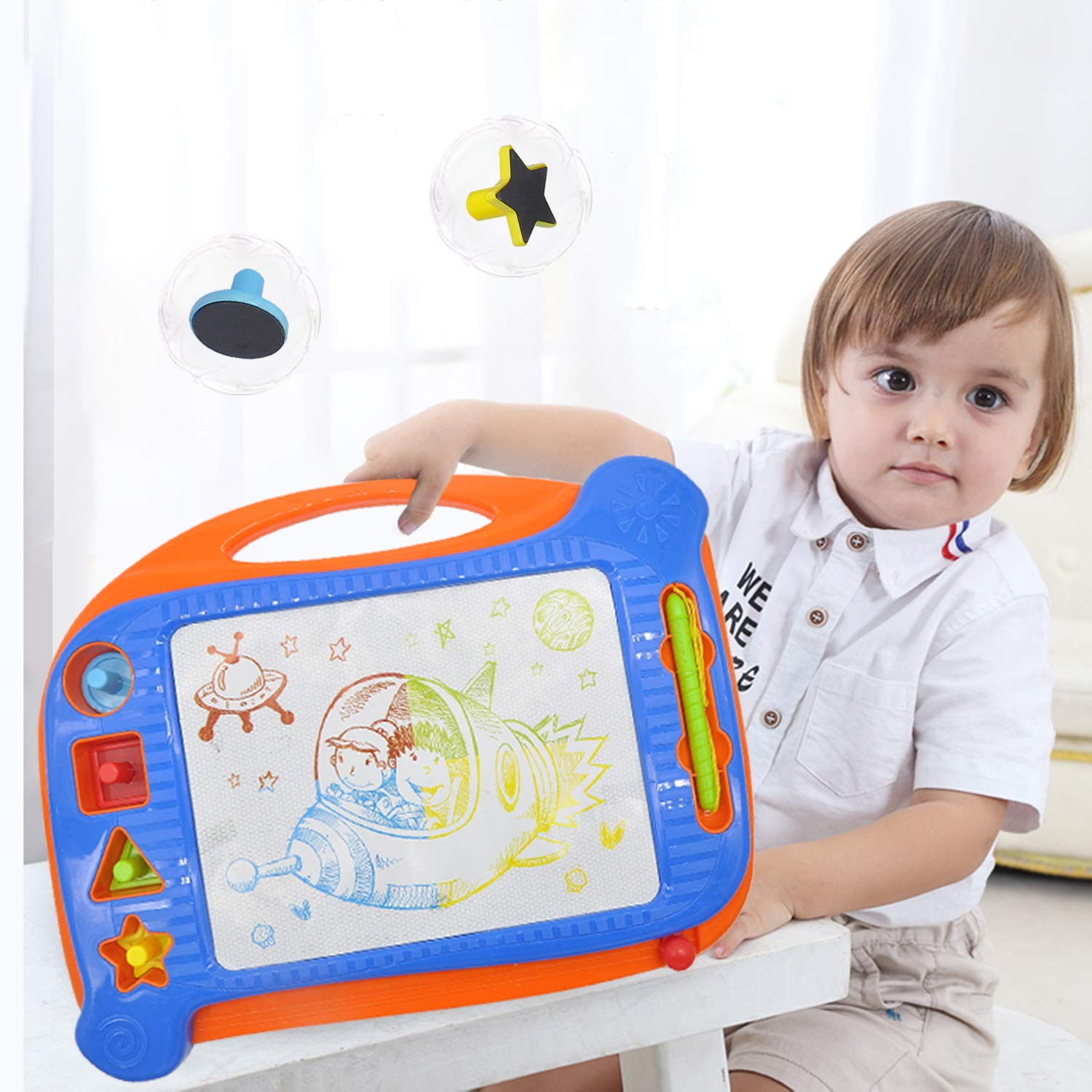 Yanqueens Magnetic Drawing Board for Kids Perfect Educational Toys for Beginner 2 Magna Doodle Board with Erasable Sketching and Daily Use Painting Great for Writing