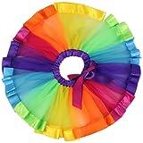 Jastore® Girls Layered Rainbow Tutu Skirt Dance Dress Ruffle Tiered Clubwear