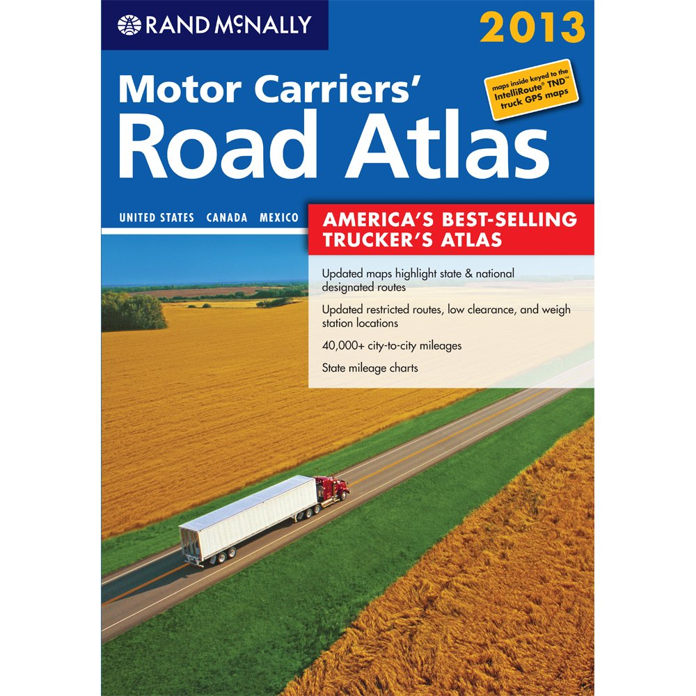 Motor Carriers Road Atlas Rand Mcnally Motor Carriers Road - Map usa states cities mileage