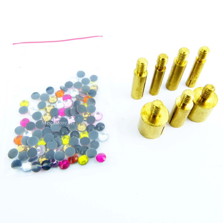 Babz Iron-on Hot Fix Hotfix Applicator Wand Crystal Gem Rhinestone Diamantes Bead Studs Domes