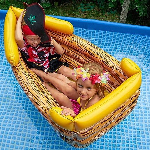 Verano Nuevo Barco Pirata Inflable Niños Flotando Fila Cama ...