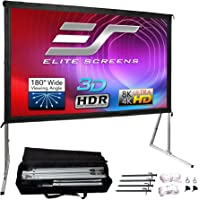 Elite Screens Yard Master 2, 100 inch Outdoor Projector Screen with Stand 16:9, 8K 4K Ultra HD 3D Fast Folding Portable…