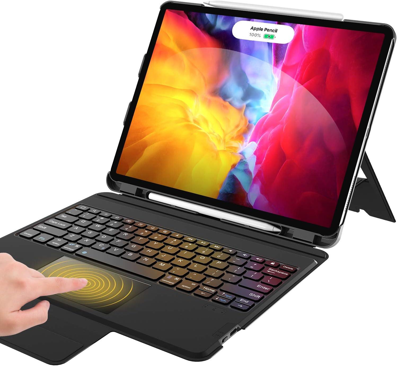 Keyboard Case for iPad Pro 12.9 2020, iPad Pro 12.9 Keyboard - Touchpad- Auto Sleep Wake - with Pencil Holder - Magic Keyboard Case for iPad Pro 12.9 inch (4th/3rd Generation), Black