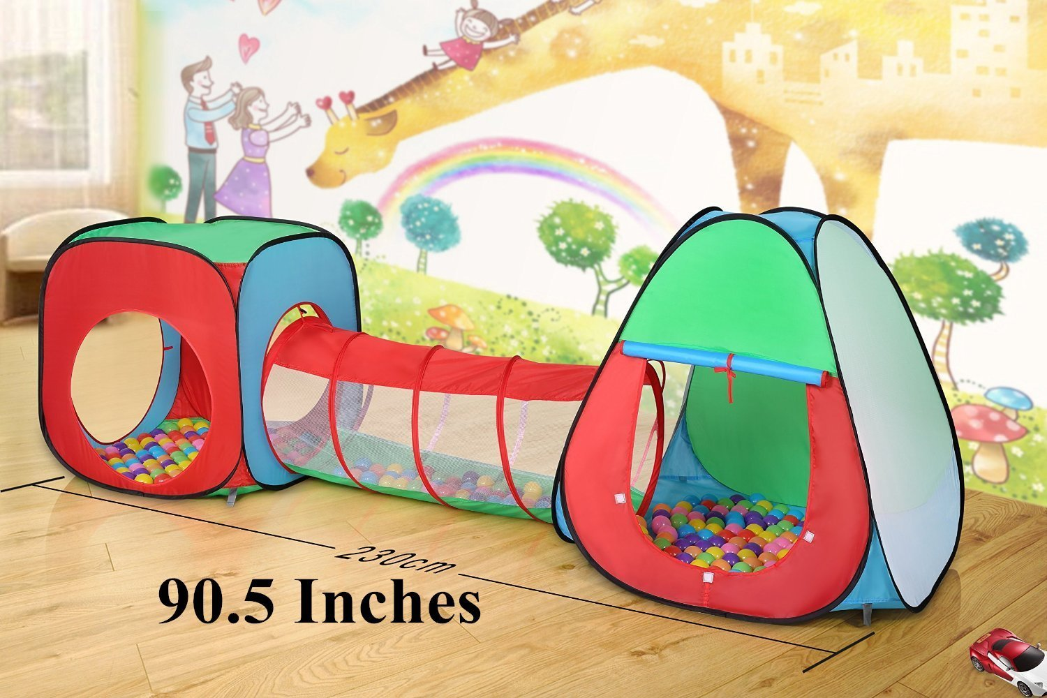 Amazon.com Roadacc 3-Piece Children Play Tent Set of Square Cubby Triangle Cubby and Spring-Pop Tunnel Toys u0026 Games & Amazon.com: Roadacc 3-Piece Children Play Tent Set of Square Cubby ...