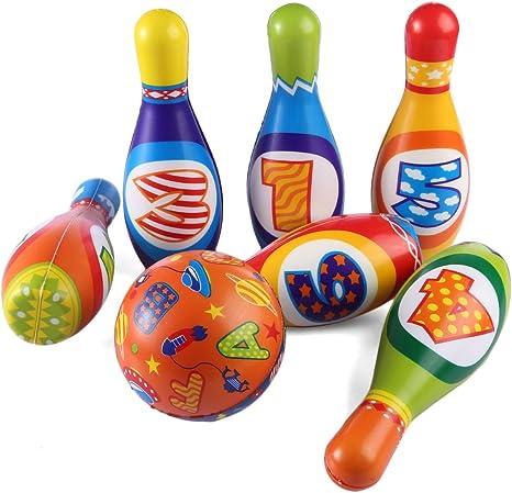 Batop Bowling - Juego de pelos de Espuma para niños de 6 pelos y 1 ...