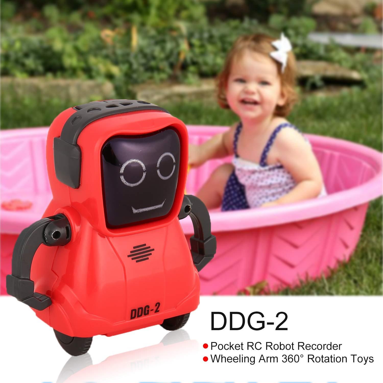 FairytaleMM DDG-2 Smart Pocket Voice Recording RC Robot Recorder Arm 360 Rotation Toys White
