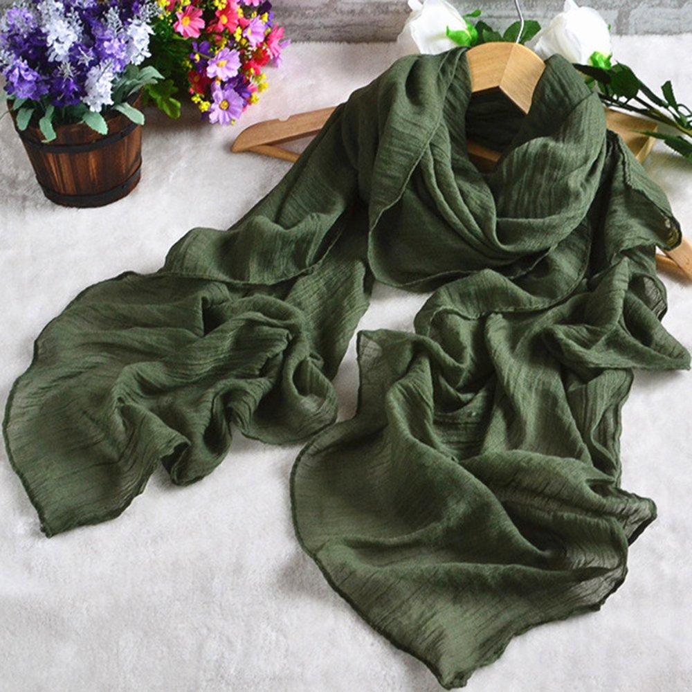 Sanwood/® Wickelschal// Stola aus Baumwollleinen einfarbig