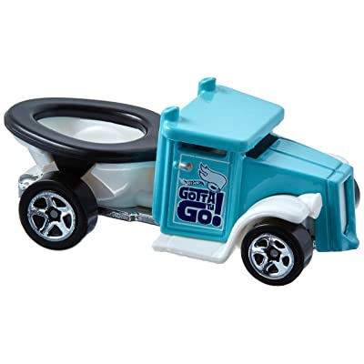 Hot Wheels 2020 Experimotors Gotta Go (Toilet Car) 101/365, Turquoise: Toys & Games